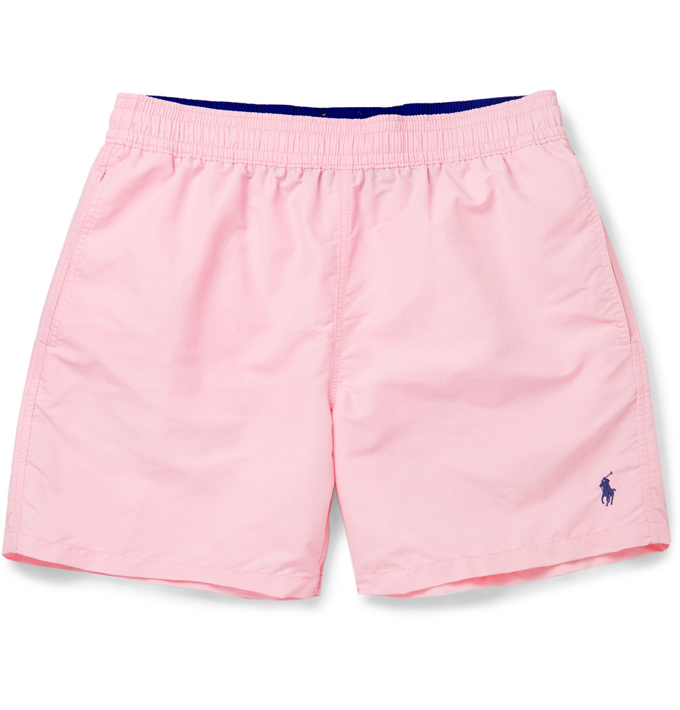 37ca885c6a ... sweden lyst polo ralph lauren mid length swim shorts in pink for men  3760a 02ea8