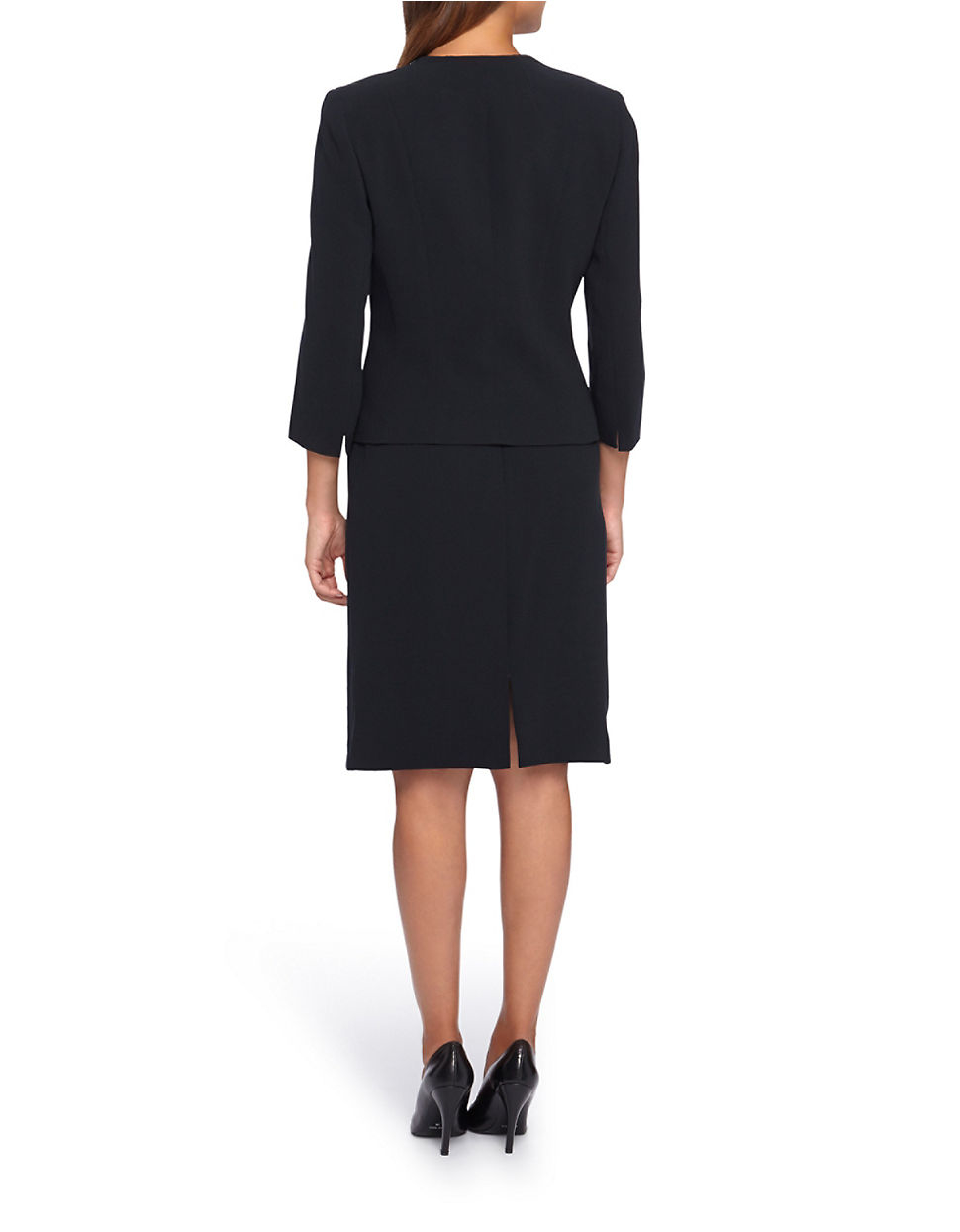 tahari by arthur s levine embroidered three button skirt