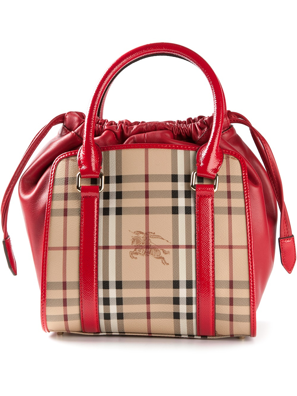 lyst burberry dinton small shoulder bag in red