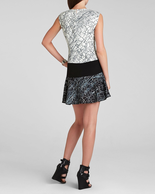 Lyst Bcbgmaxazria Dress Lillian Print Blocked In White