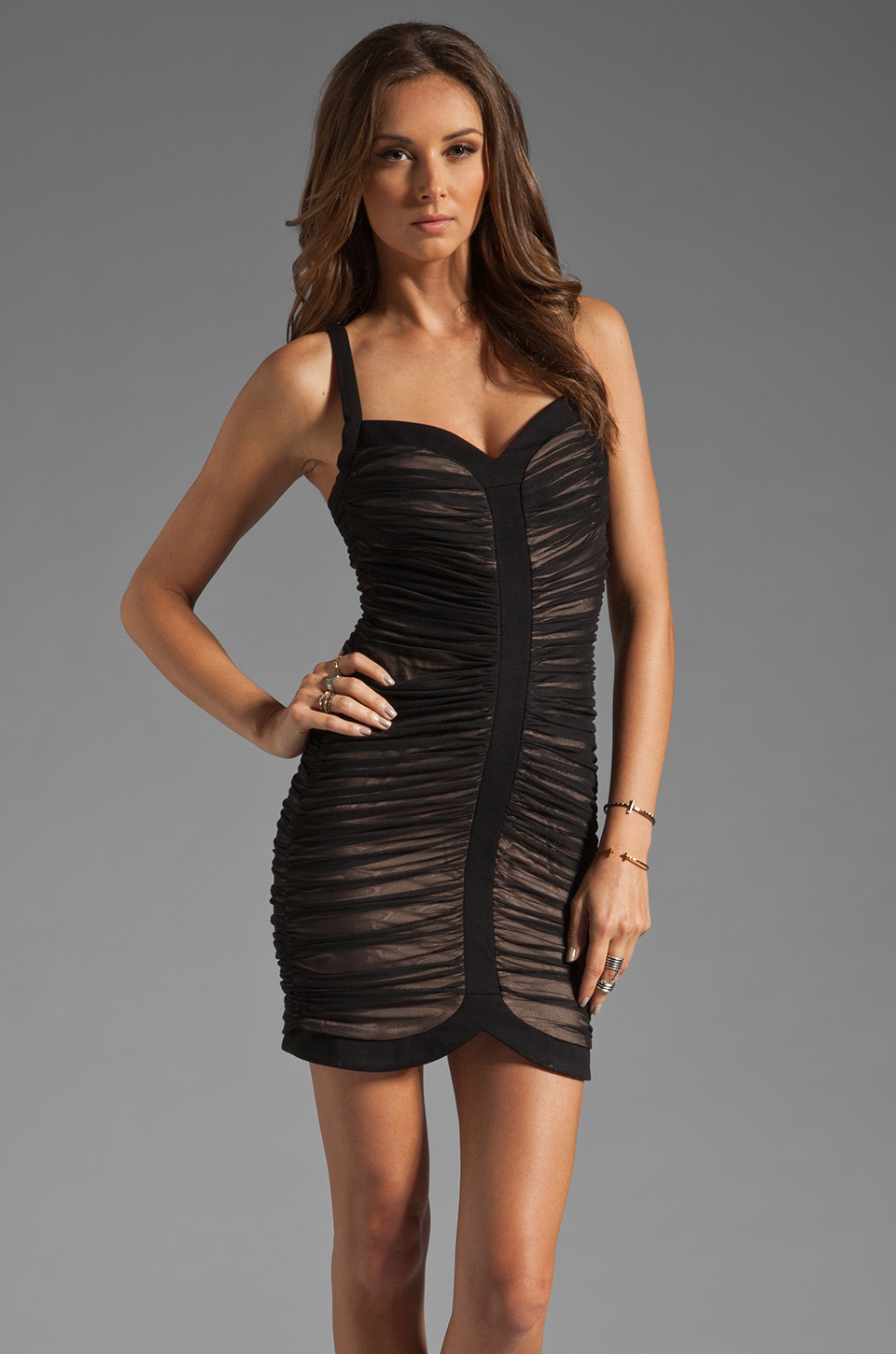 Bcbgmaxazria Mini Cocktail Dress in Black  Lyst