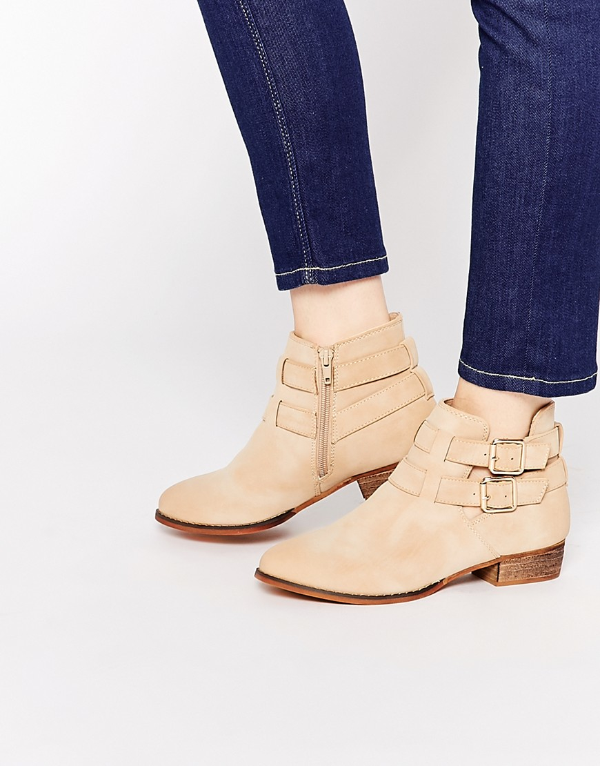 Lyst Call It Spring Yenalian Double Strap Western Ankle
