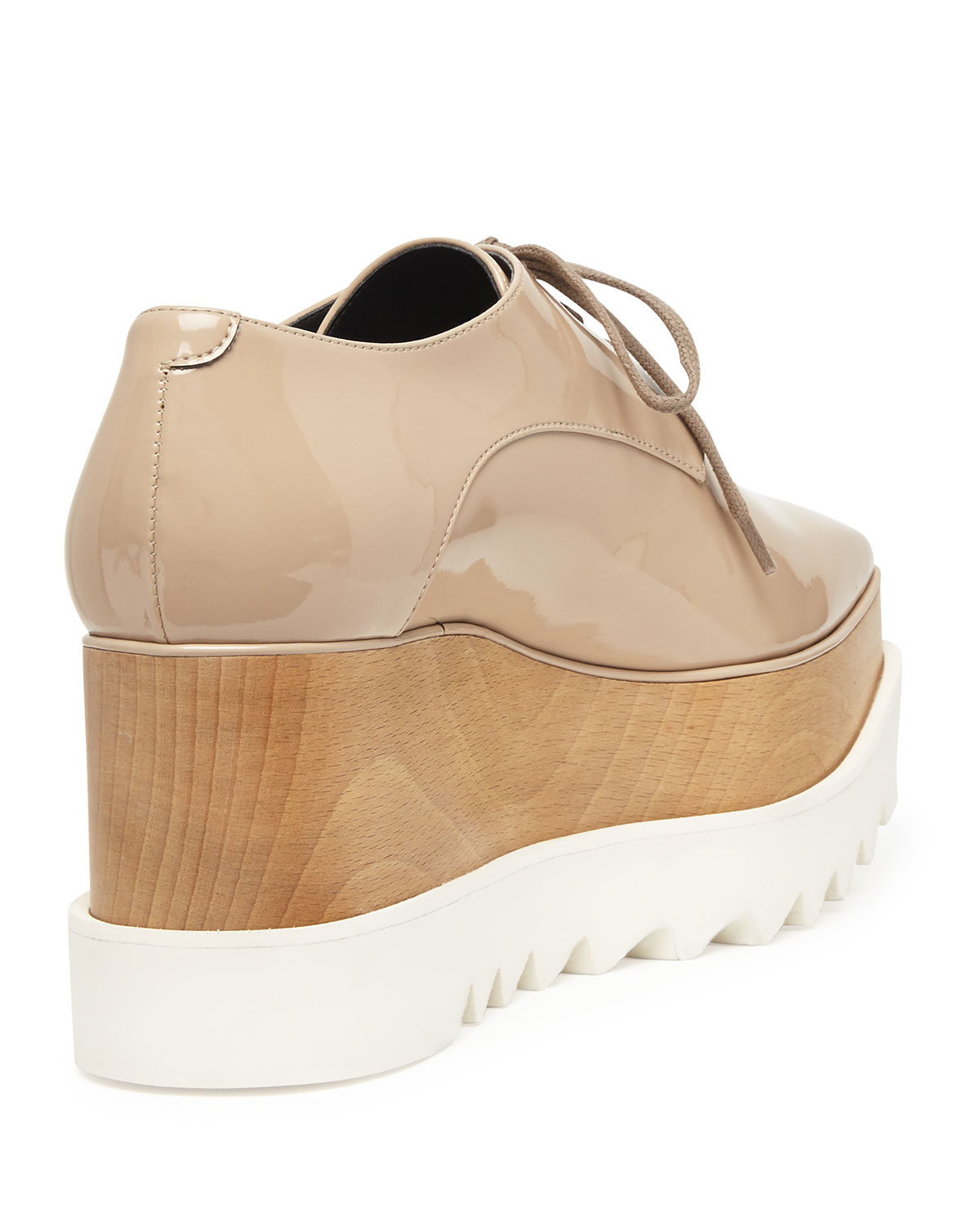 Stella Mccartney Leather Platform Oxford In Natural Lyst