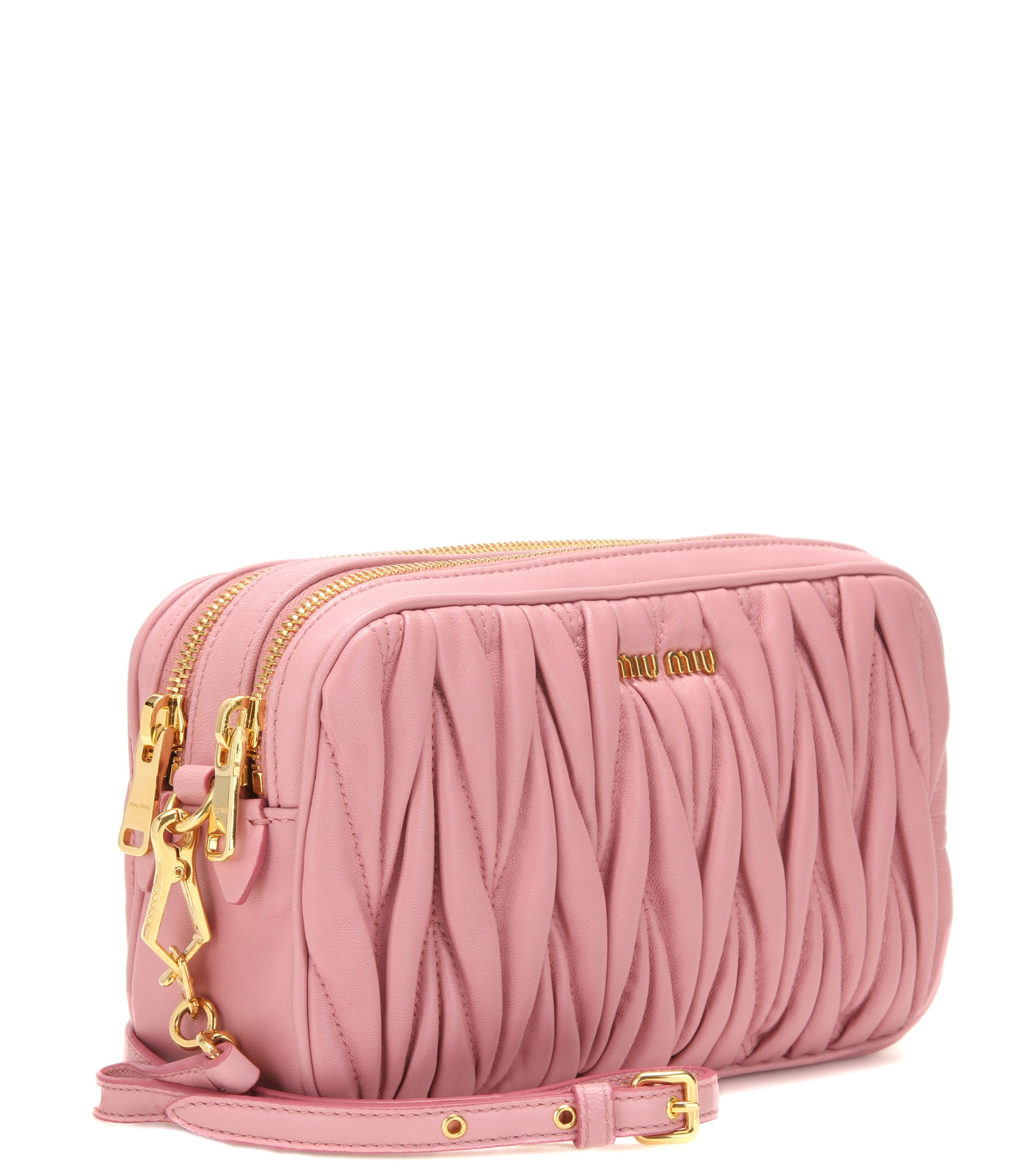 bf35b9a76737 Miu Miu Matelassé Leather Shoulder Bag in Pink - Lyst