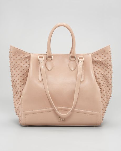 Christian Louboutin Justine Spike Tote Bag in Beige (NUDE/NUDE)
