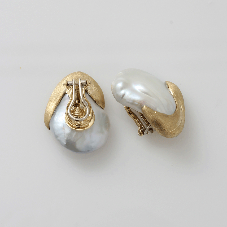 freshwater earrings pearl gold white mills jewelers product