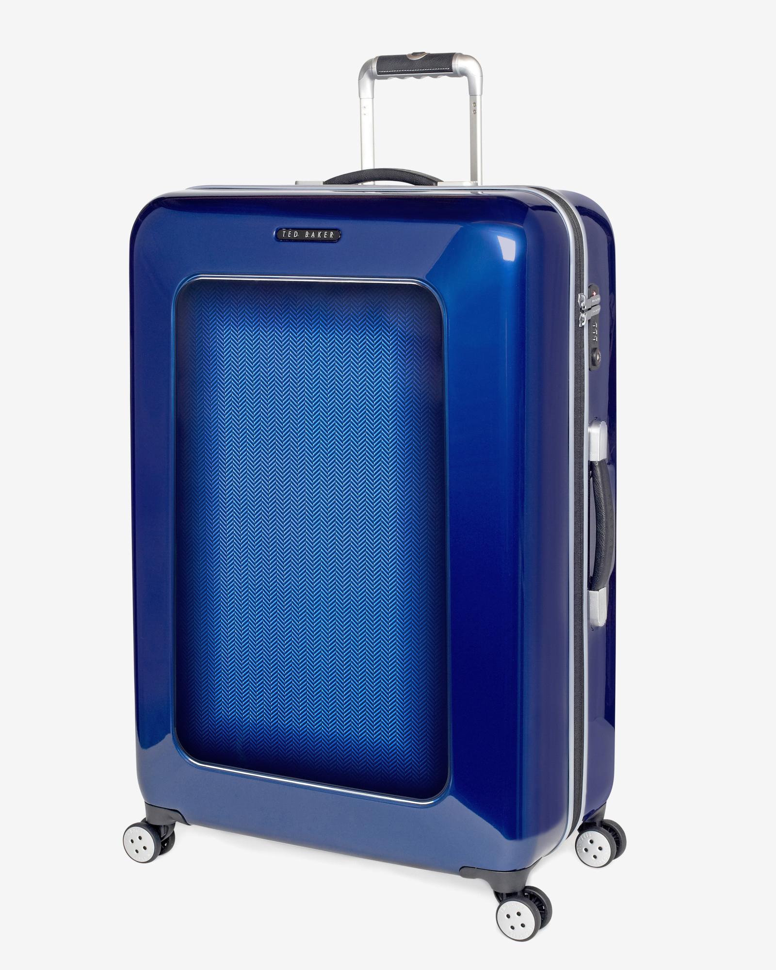Ted baker Herringbone 4-Wheel 79.5Cm Large Suitcase in Blue for ...