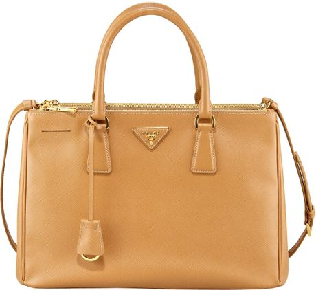 Prada Saffiano Lux Tote Bag in Brown (caramel)