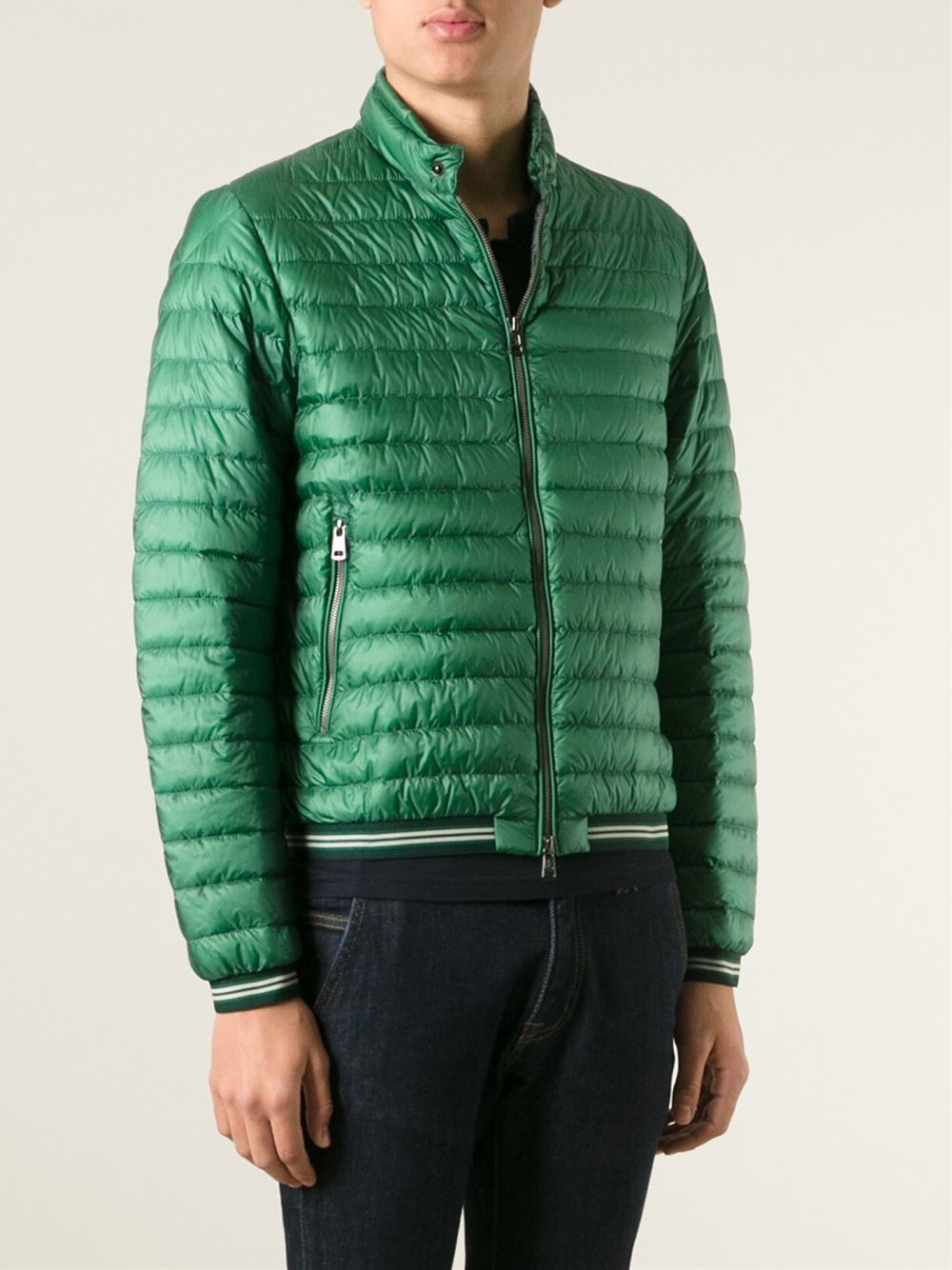 Moncler David Padded Jacket In Green For Men Lyst