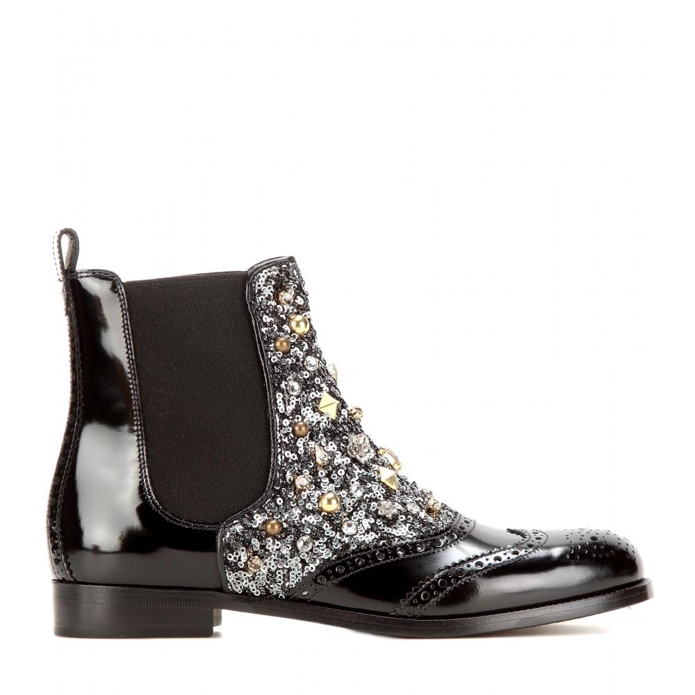 Dolce & Gabbana Dolce & Gabbana Leather Chelsea Boots ayZL4U
