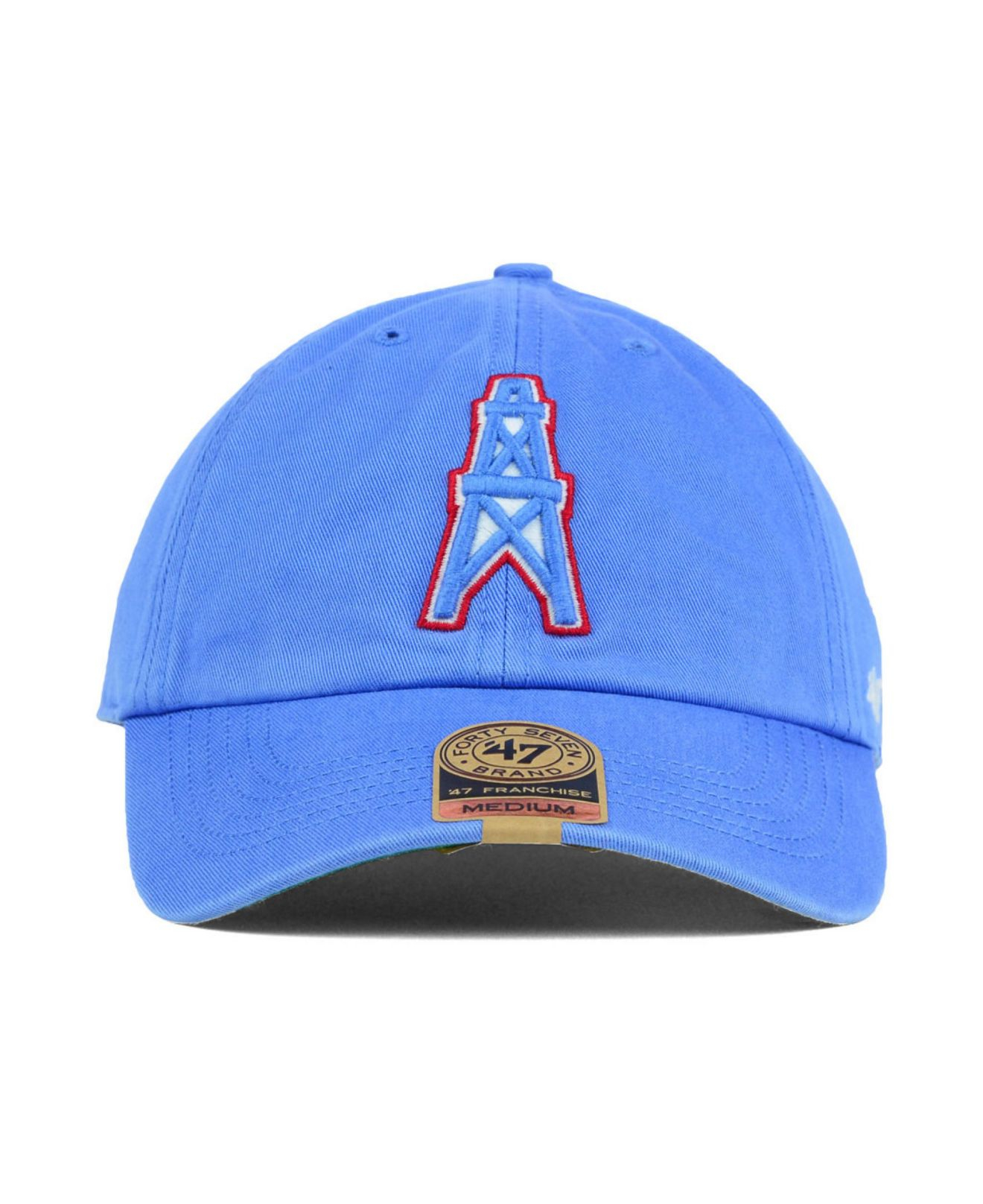 Lyst - 47 Brand Houston Oilers Franchise Cap in Blue for Men d9e0385303f