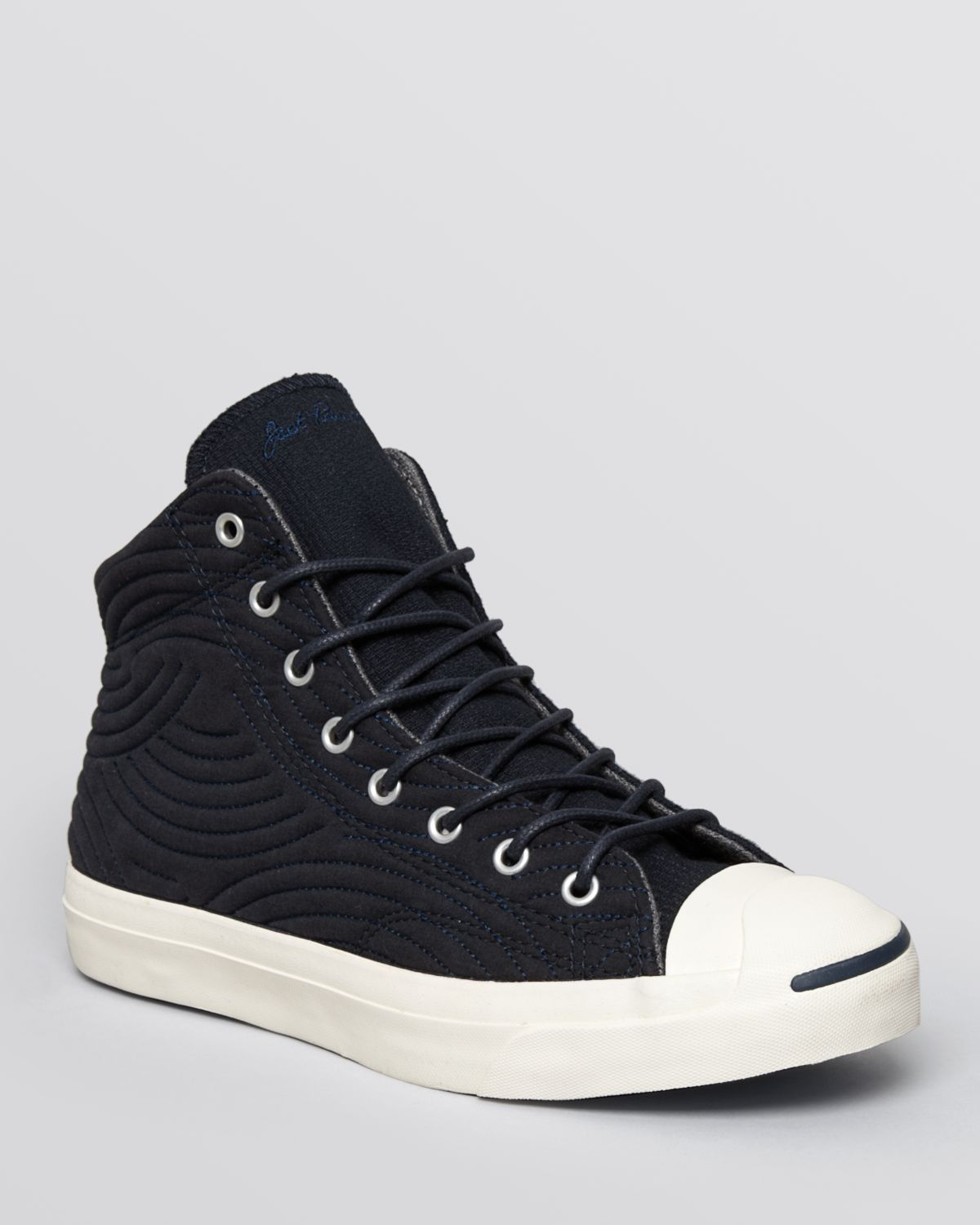 Converse Jack Purcell Jack Mid Quilted Sneakers In Blue