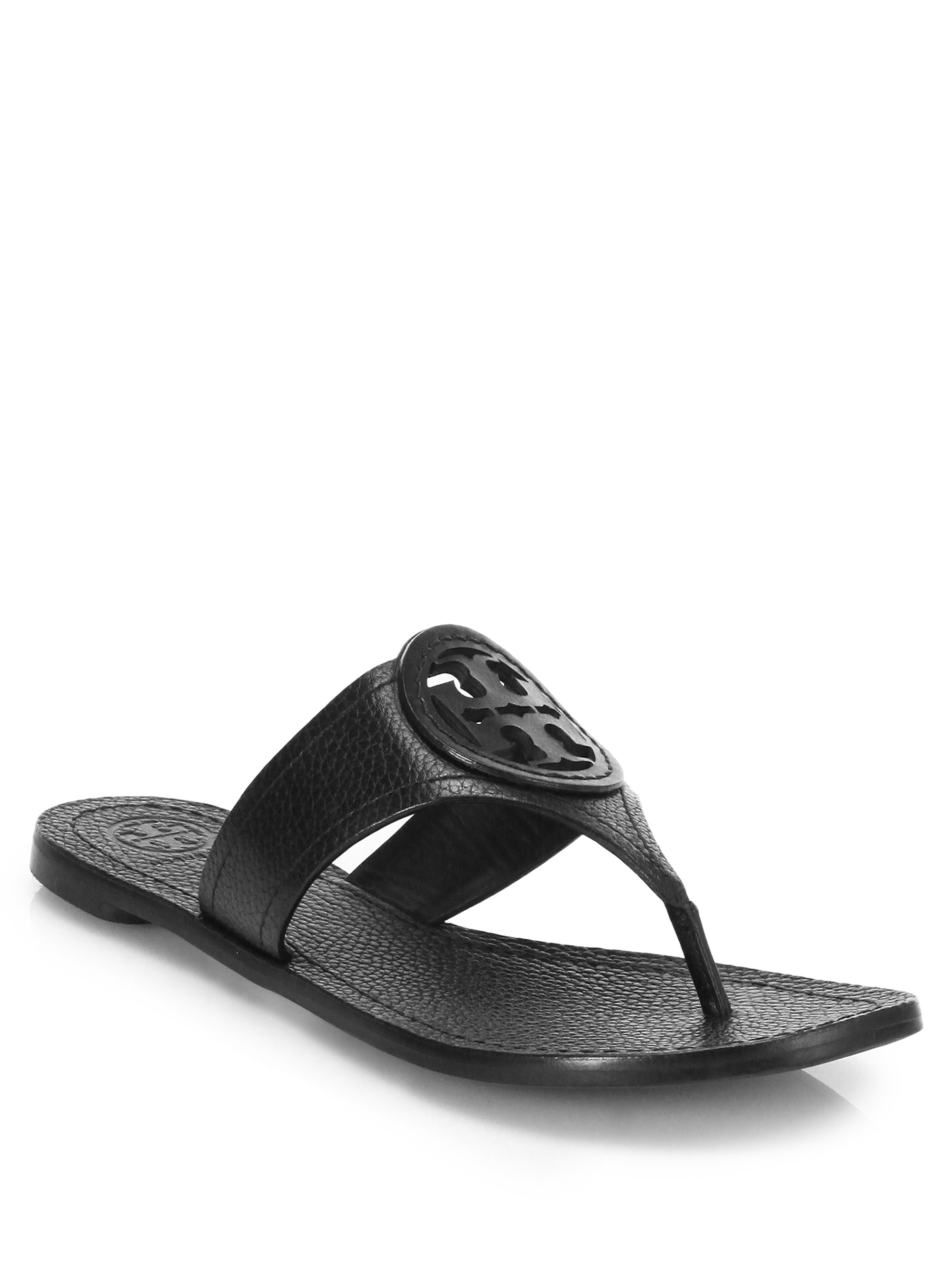 c56221e51f354d Tory Burch Louisa Leather Thong Sandal in Black