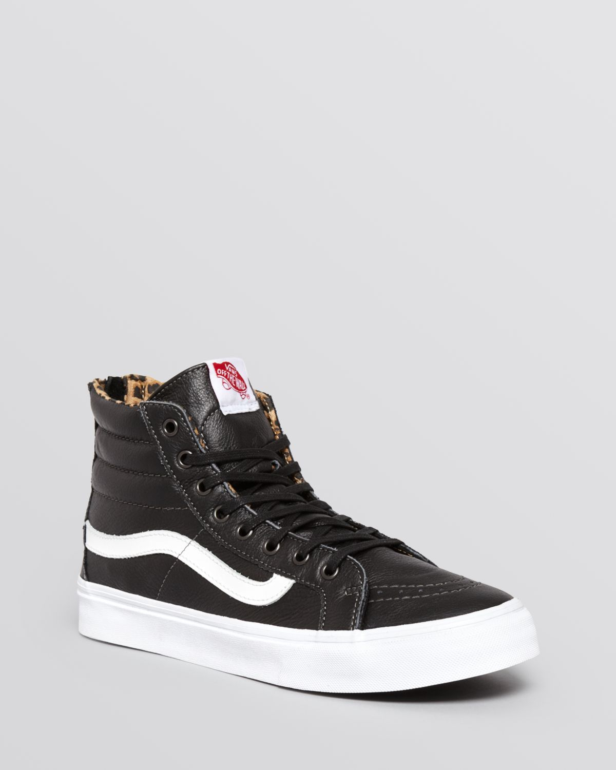 f07ab01672 Lyst - Vans Lace Up High Top Sneakers - Slim in Black