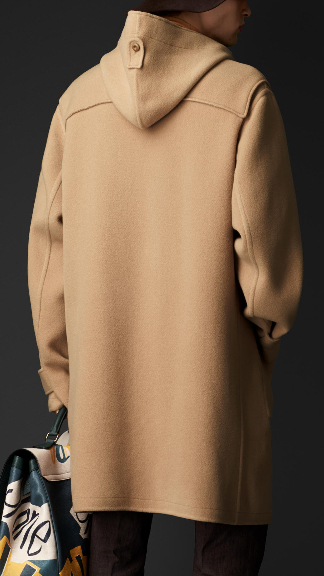 Burberry Double Cashmere Wool Duffle Coat in Natural for Men | Lyst