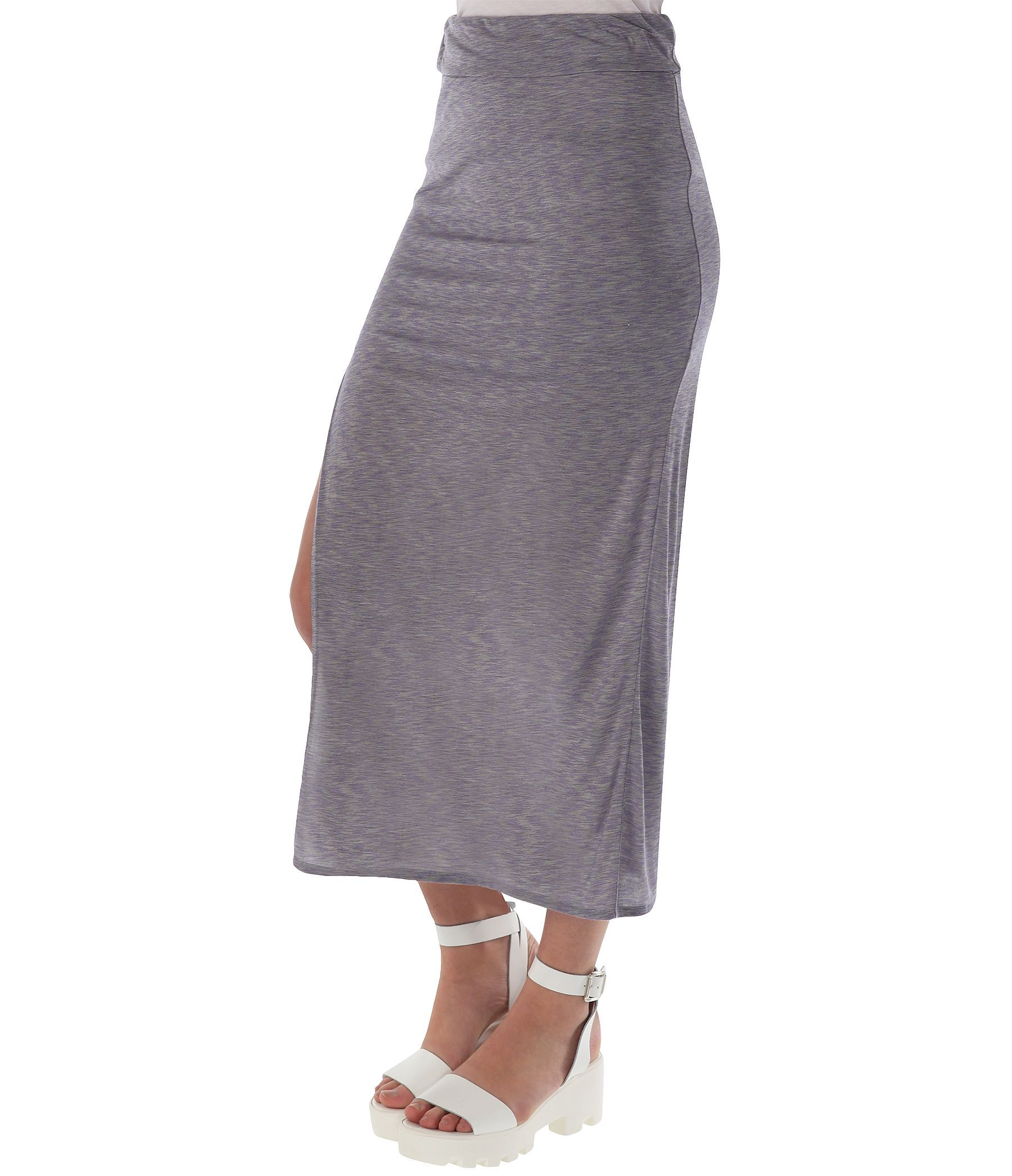 bench hankerchief length skirt in purple lyst