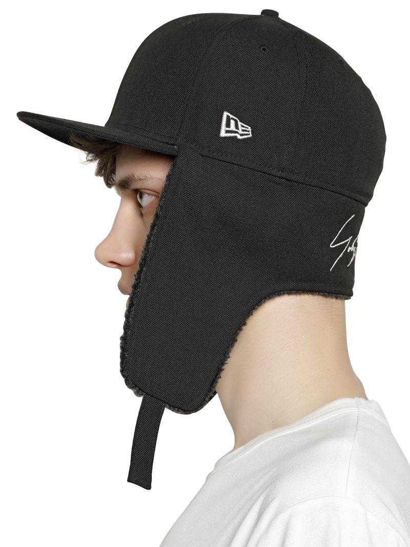 Lyst - Yohji Yamamoto Wool Baseball Hat With Ear Flaps in Black for Men 441c9b5103f