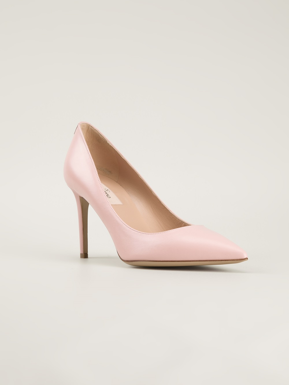 Lyst - Valentino Pointed Toe Pumps in Pink