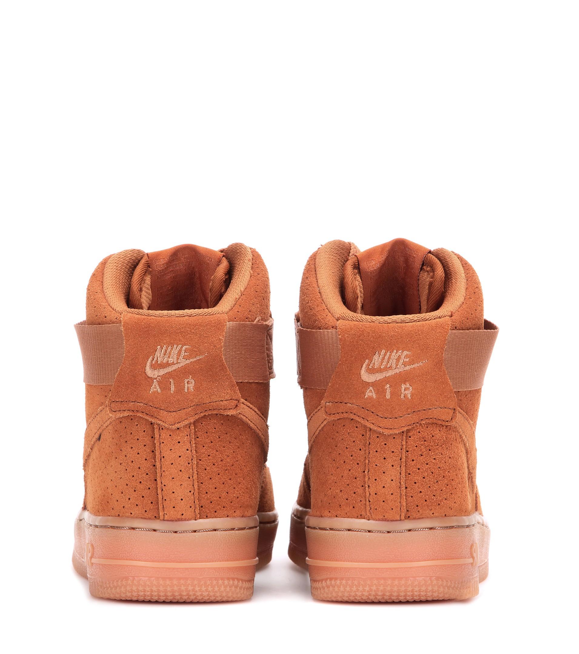 Lyst - Nike Air Force 1 Suede High-top Sneakers in Brown 5f2695473