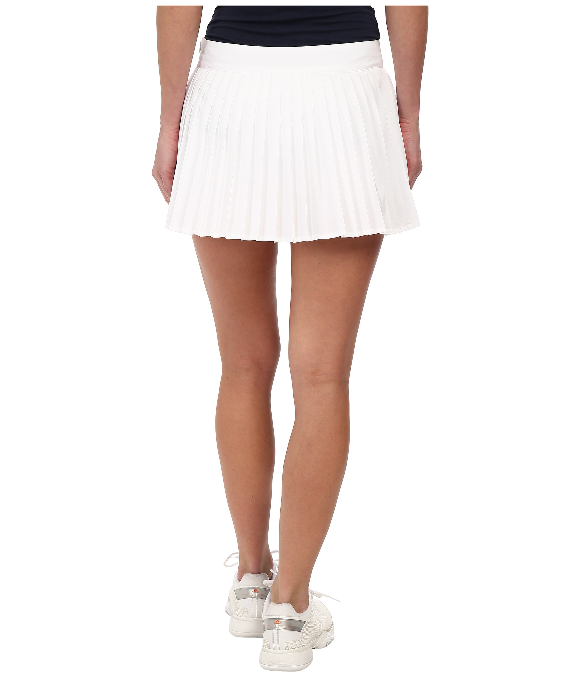 lacoste technical pleated tennis skirt in white lyst
