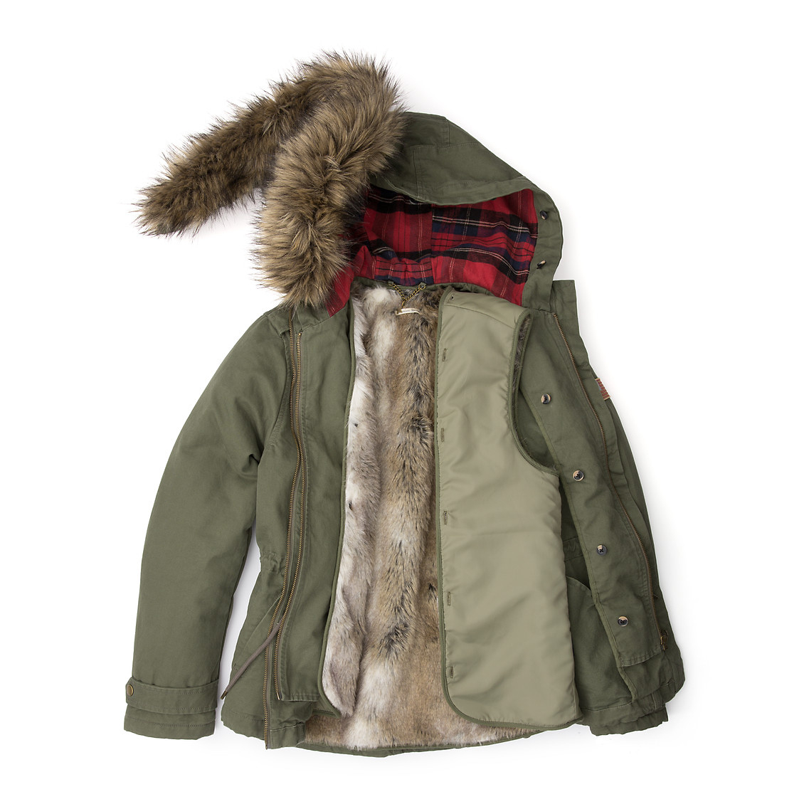 tommy hilfiger oda padded parka in green dusty olive pt lyst. Black Bedroom Furniture Sets. Home Design Ideas