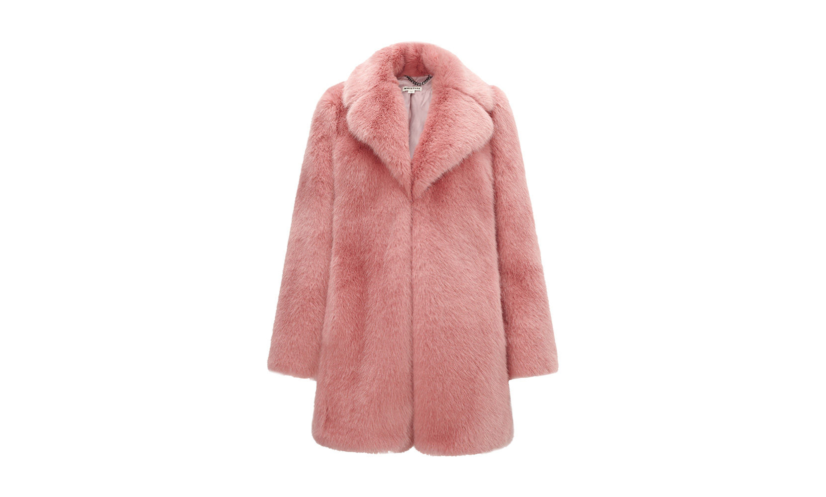 Whistles Kumiko Faux Fur Coat in Pink | Lyst