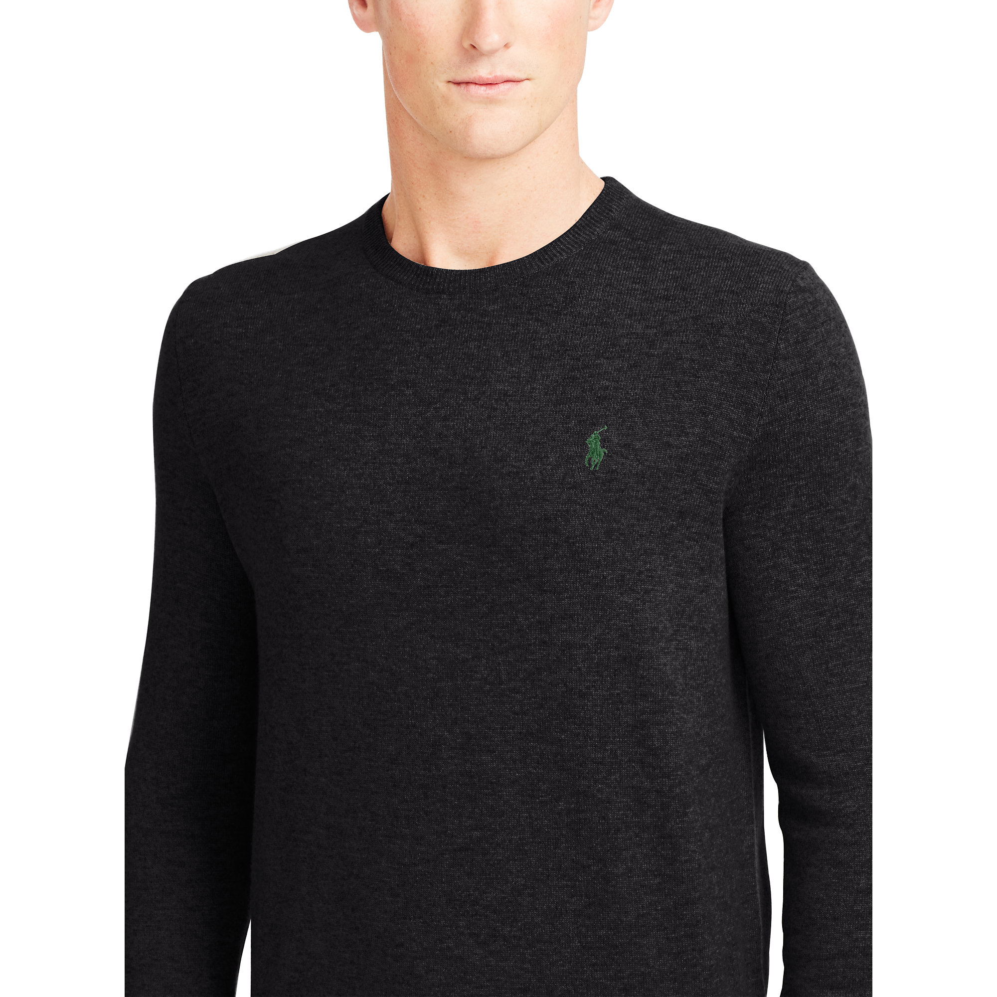 Lyst Polo Ralph Lauren Wool Crewneck Sweater In Black