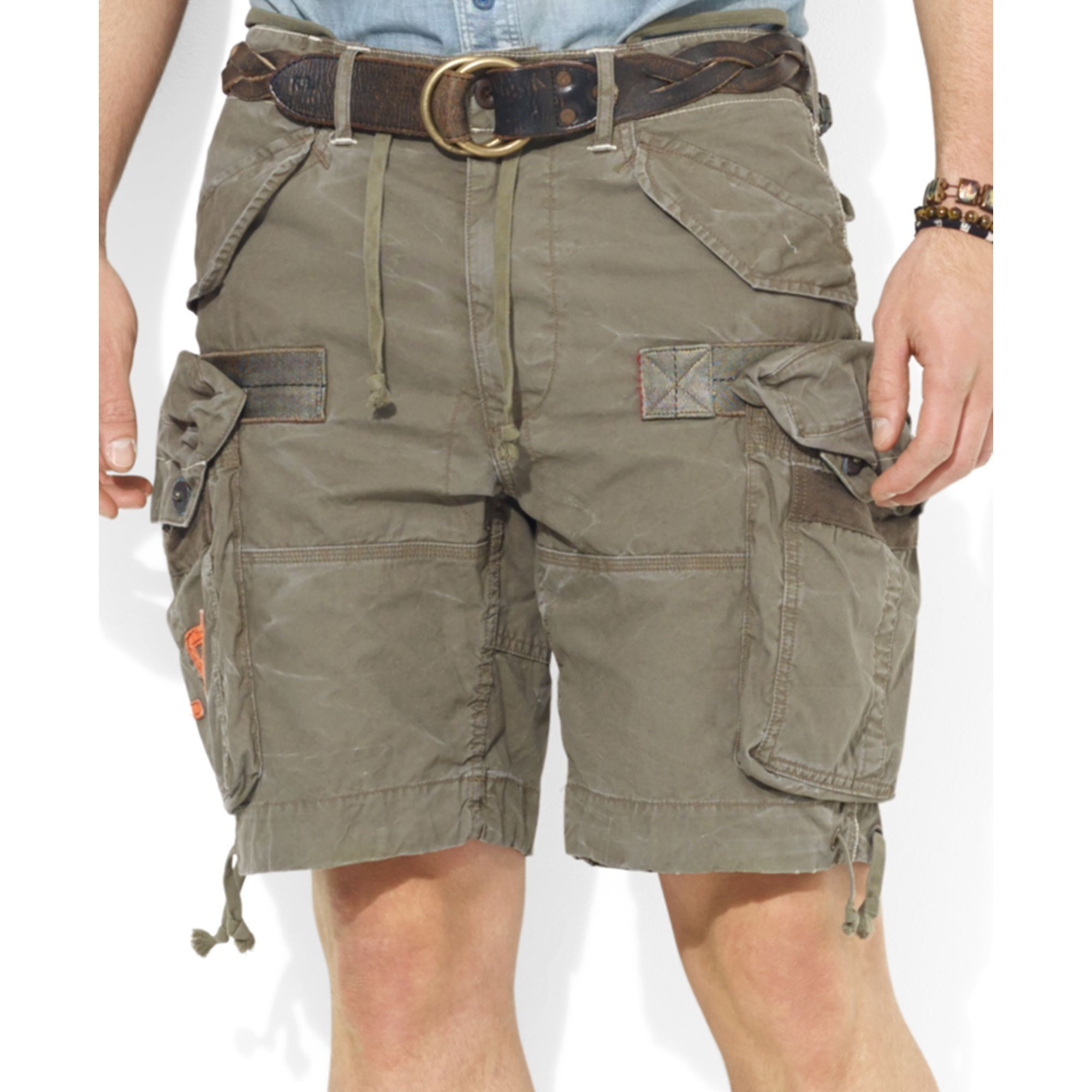 55b0b5aecf Ralph Lauren Polo Big and Tall Cargo Shorts in Natural for Men - Lyst