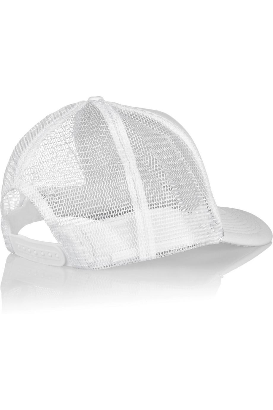 e75d1a14631 Brian Lichtenberg Ballin Embroidered Neoprene And Mesh Cap in White ...