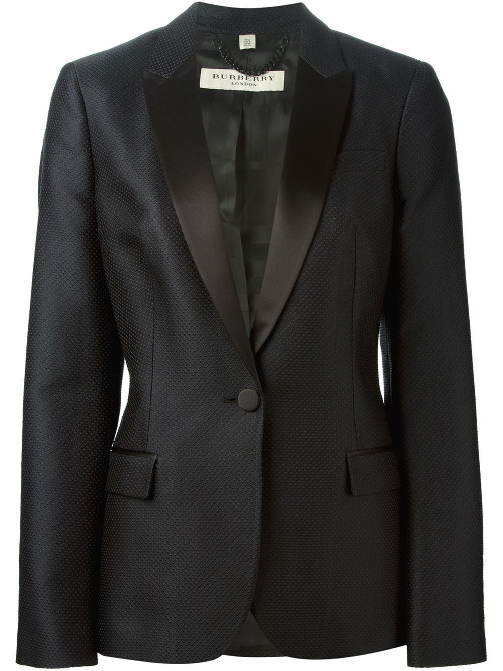 Lyst Burberry Single Button Blazer In Black