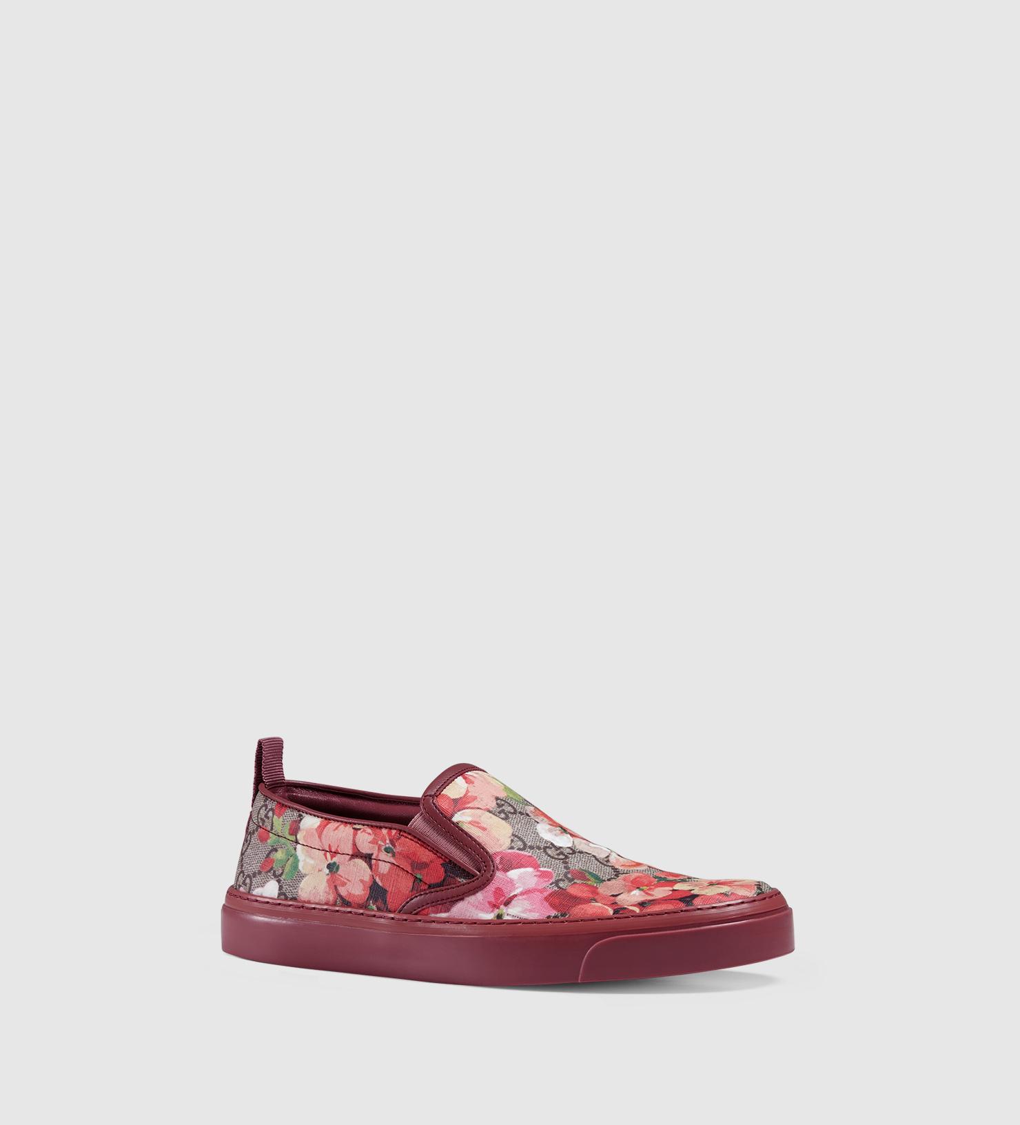 1e2cd6355aa Lyst - Gucci Blooms Print Slip-on Sneaker