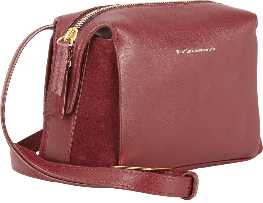 19c7e6b26a90 Want Les Essentiels De La Vie City Crossbody Bag in Red - Lyst