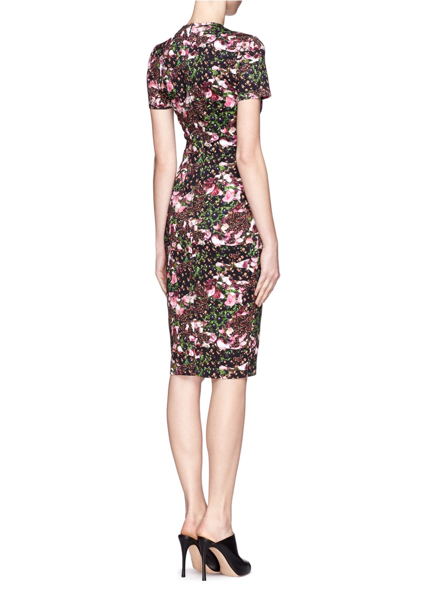 abstract floral print dress - Black Givenchy SPGGtPsGXQ