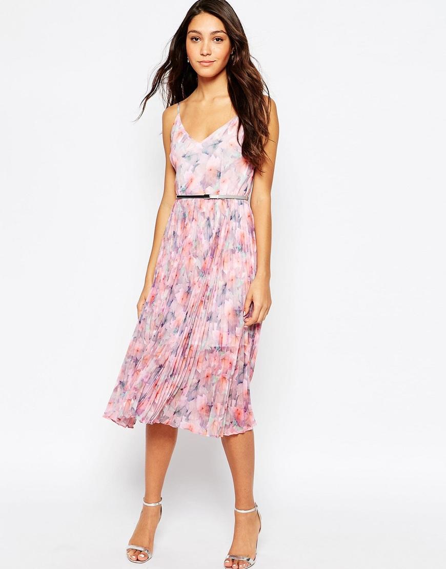 Lyst Oasis Asis Printed Midi Dress