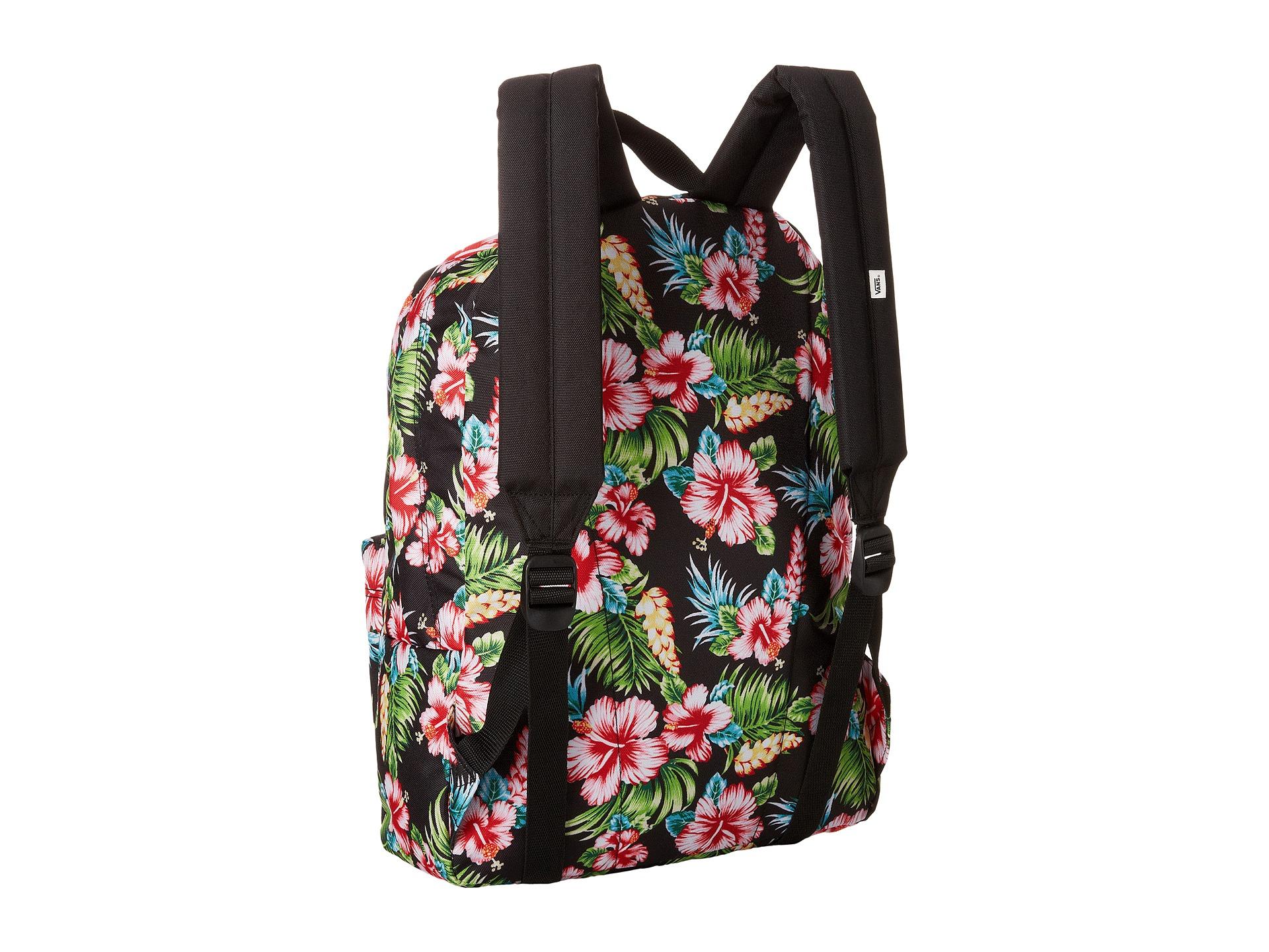 0719937d0c Lyst - Vans Realm Backpack In Black Hawaiian Print