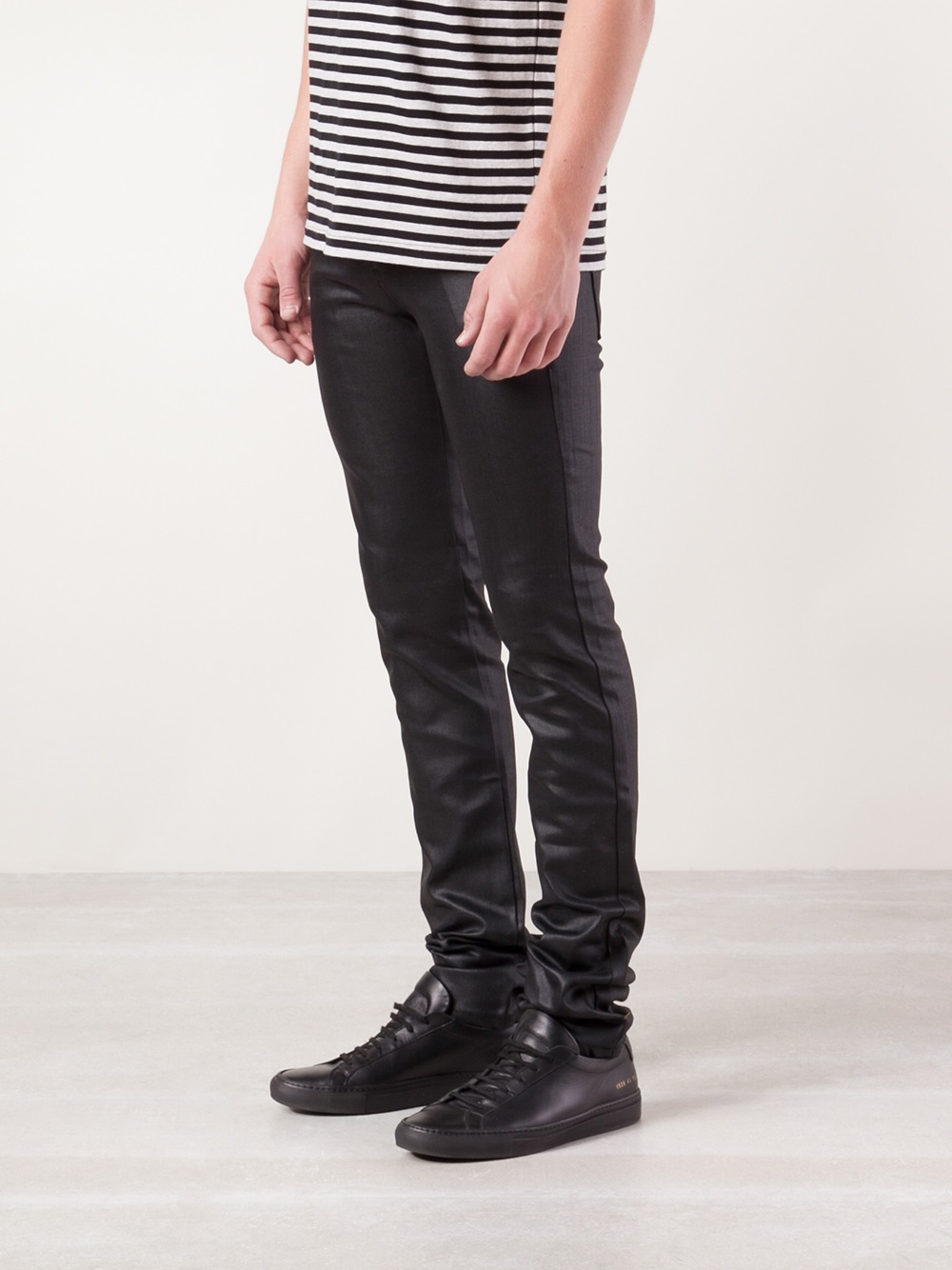 Lyst - Naked & Famous Super Skinny Guy Jeans in Black for Men