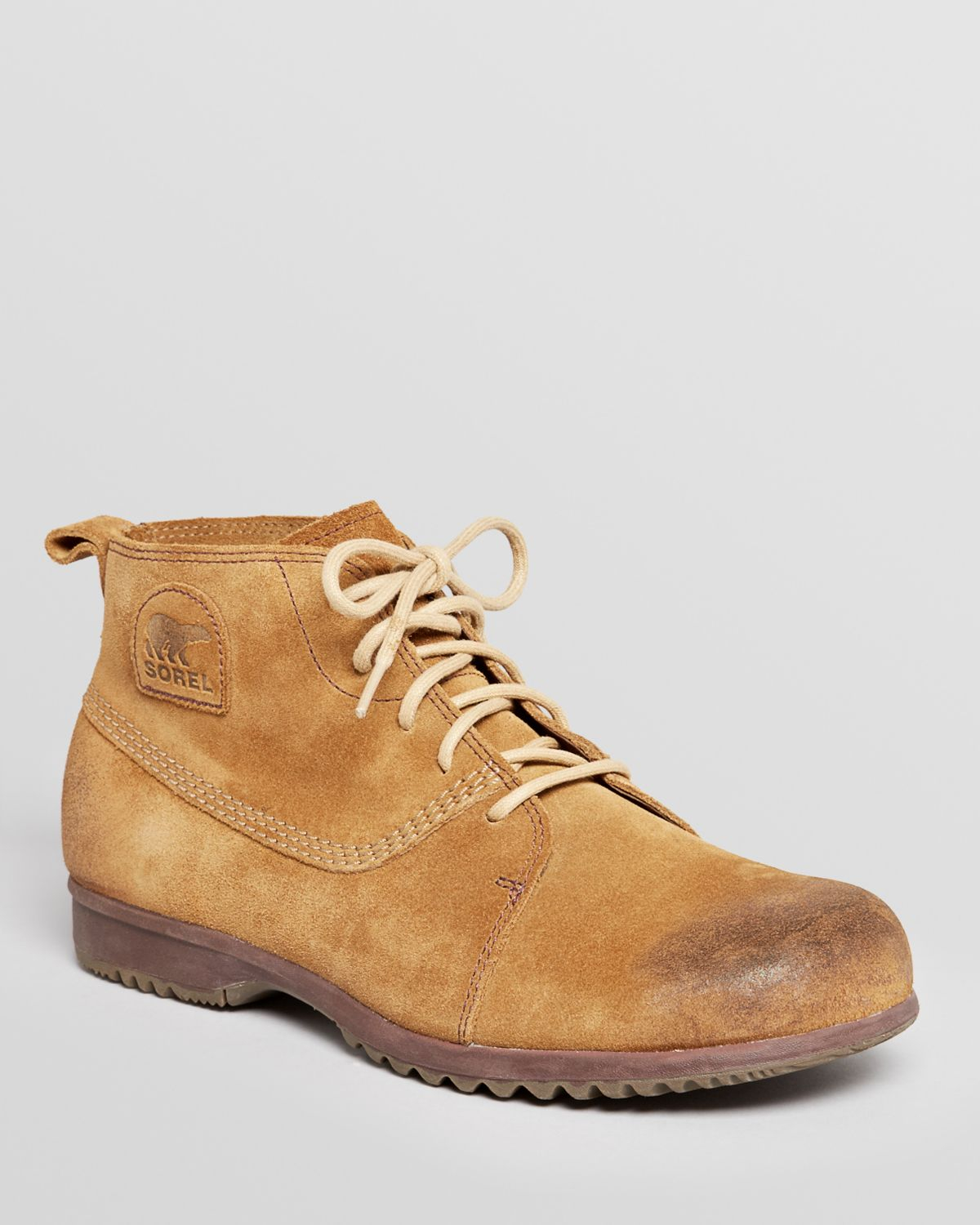 Sorel Greely Suede Chukka Boots In Brown For Men Lyst