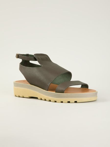 See By Chlo 233 Chunky Sole Flat Sandals In Gray Grey Lyst