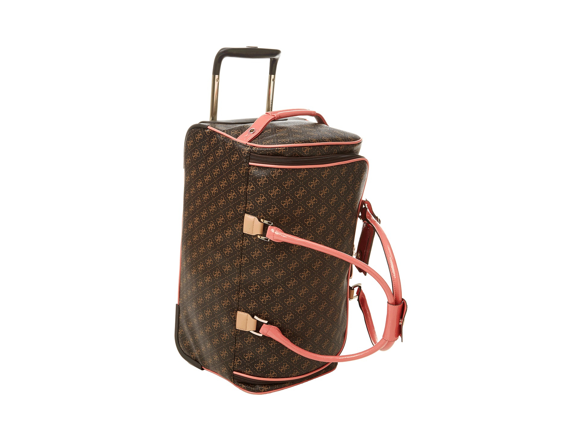 Guess Logo Affair 20 Rolling Duffle In Brown Lyst