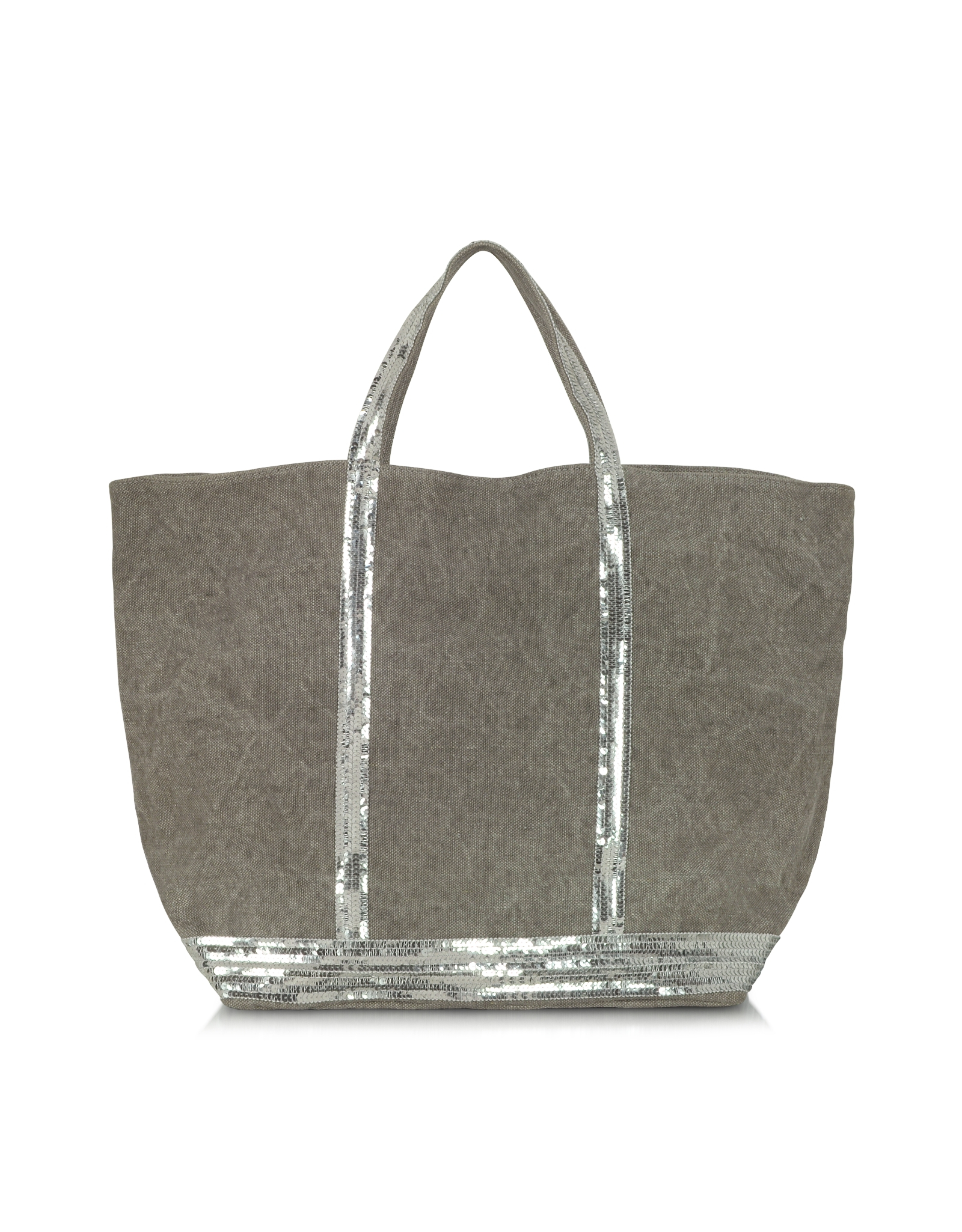 Favori Vanessa bruno Les Cabas Large Linen And Sequins Tote in Gray | Lyst CU29