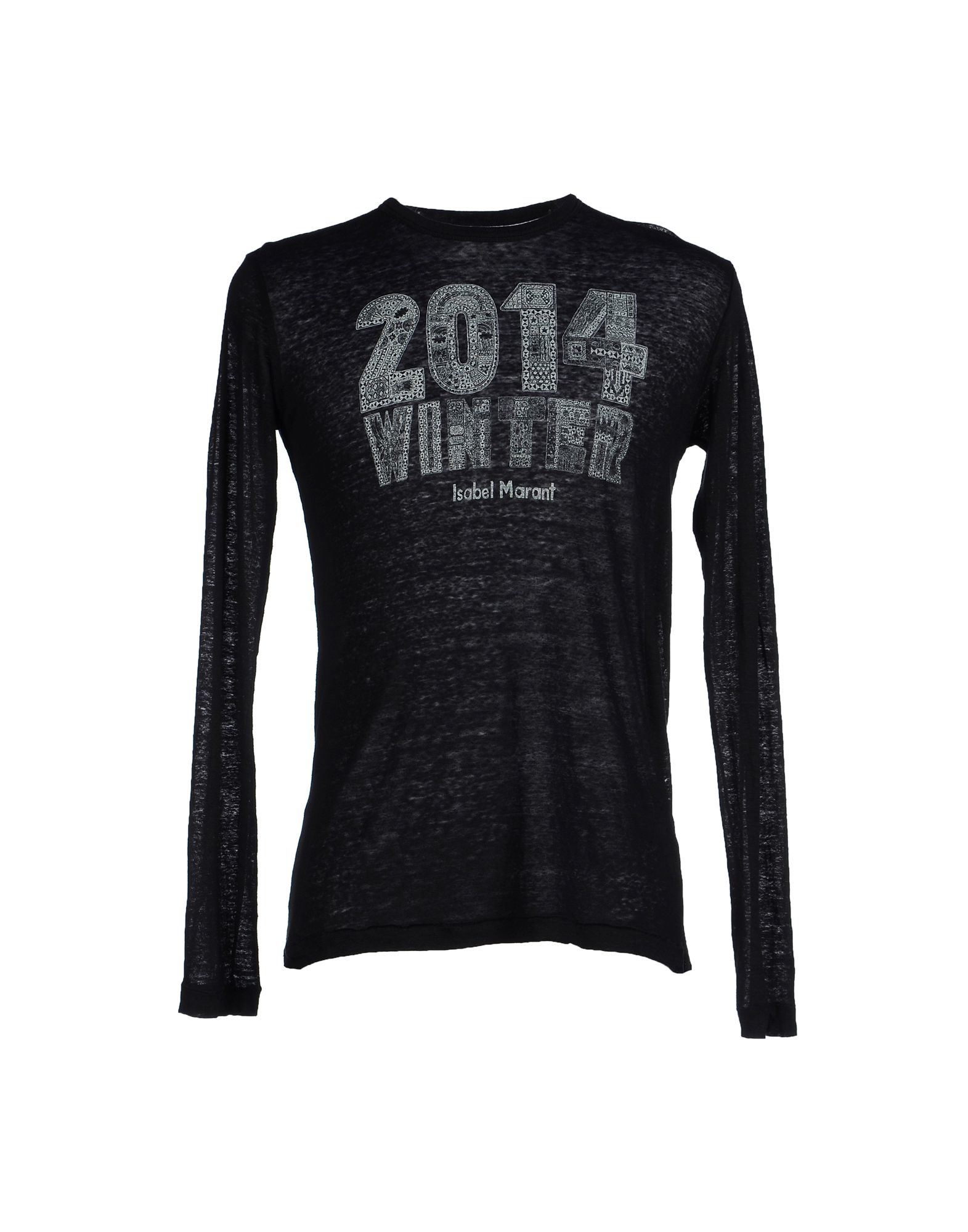 Toile isabel marant t shirt in black lyst for Isabel marant t shirt sale