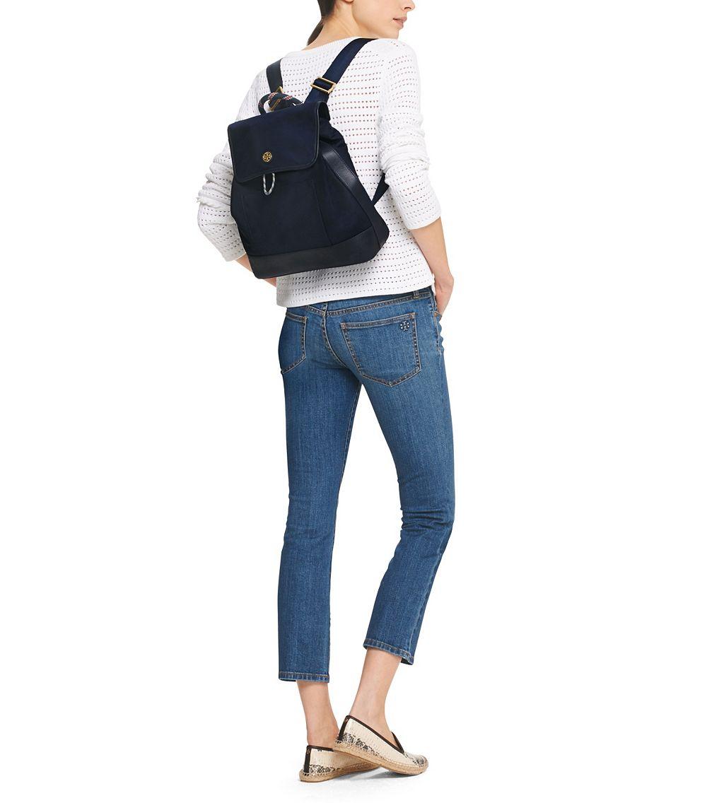 d58bbc11ac7 Lyst - Tory Burch Nylon Backpack in Blue
