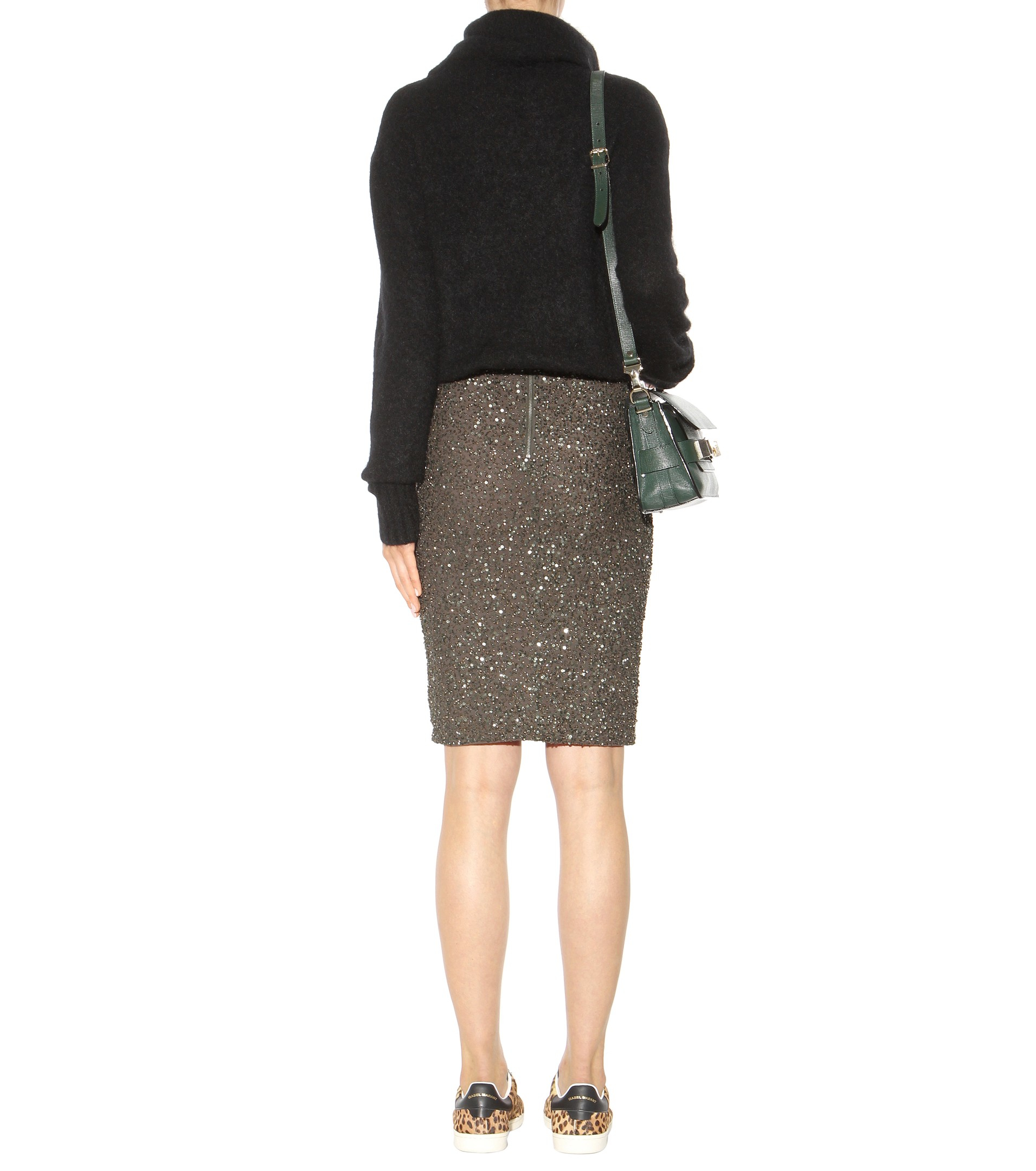 0a64d3c5f Alice + Olivia Ramos Embellished Pencil Skirt - Lyst