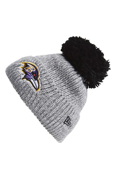 Ktz 'cuff Star - Baltimore Ravens' Pompom Knit Beanie in Gray for ...