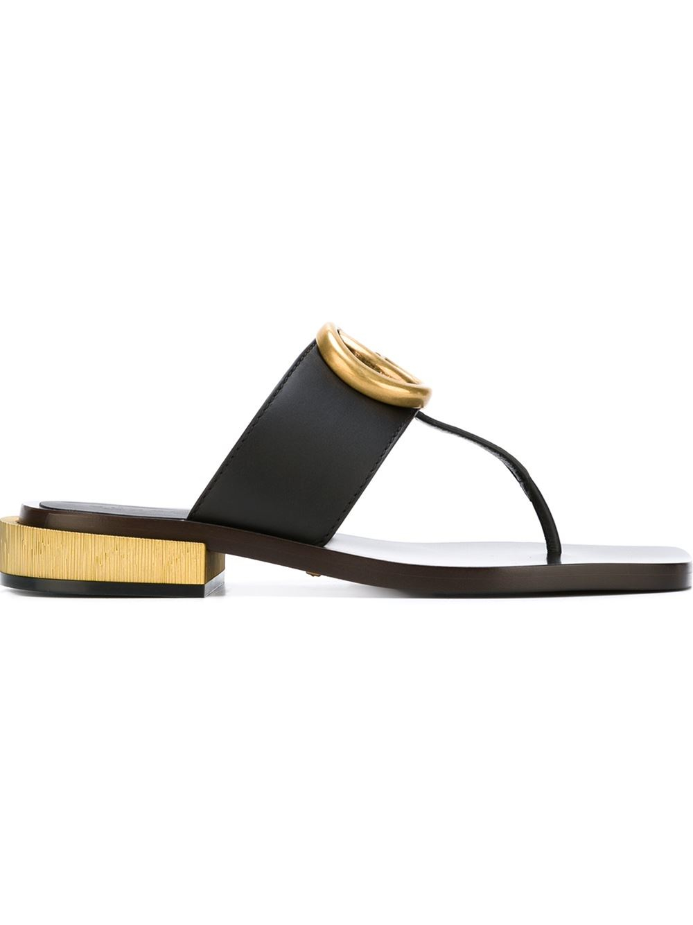 mELycGkYWd Leather Double G sandals