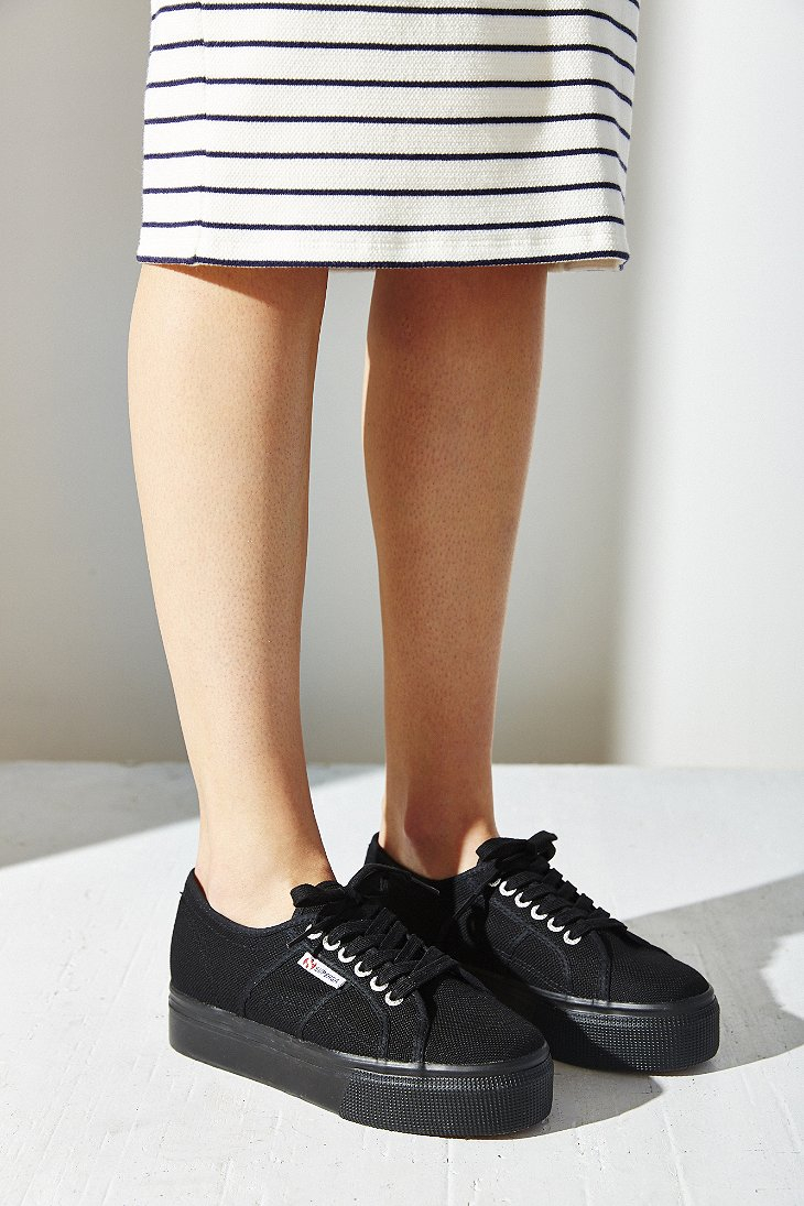 e1f9ce3880fa3 Superga Up + Down Platform Sneaker in Black - Lyst