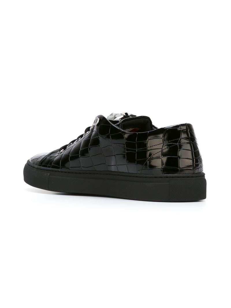 78d45eb09f8 Lyst - Philipp Plein  abstract  Sneakers in Black for Men