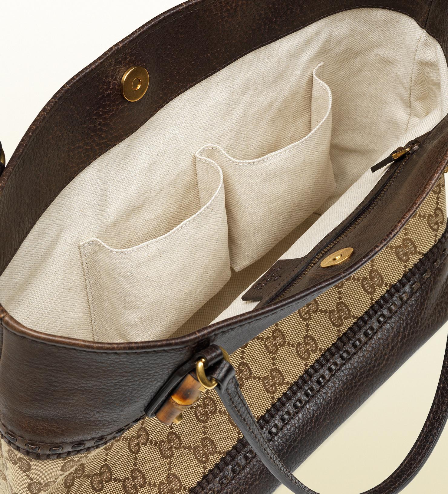 Gucci Laidback Crafty Original Gg Canvas Tote in Brown for Men - Lyst 3f25ab47e1b56