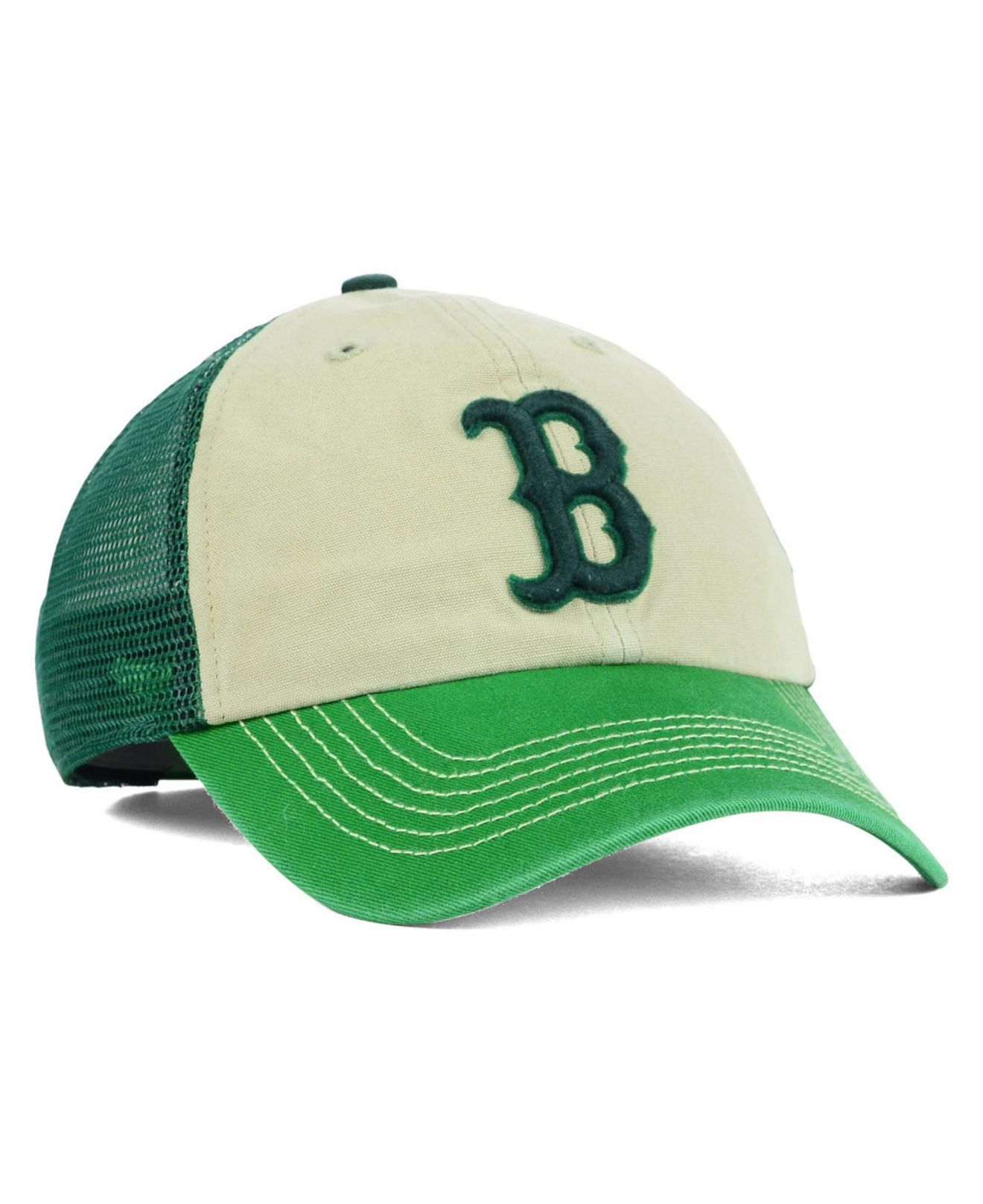 official photos 0db32 eda3d ... where can i buy lyst 47 brand boston red sox mcnally clean up cap in green  new zealand ...