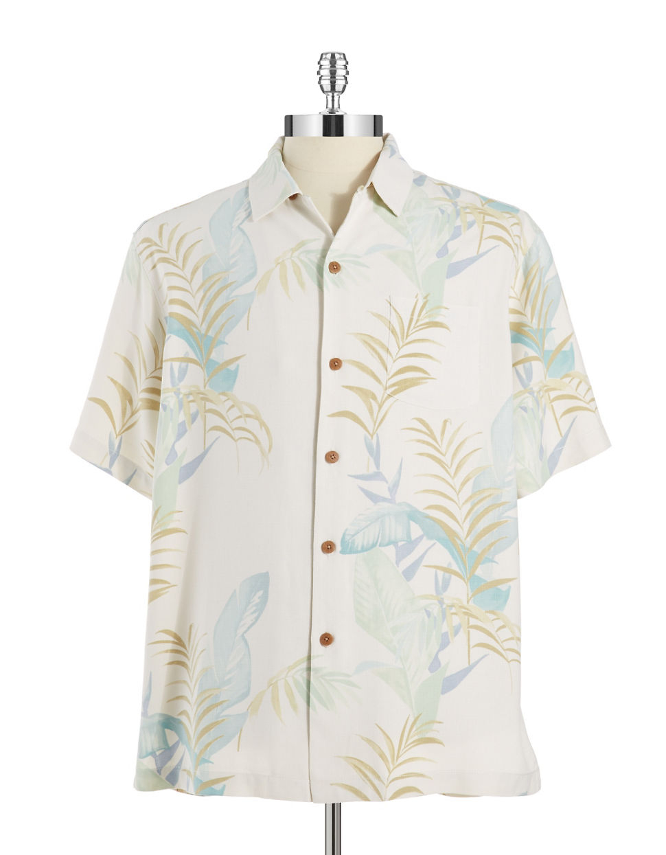 Tommy bahama silk hawaiian shirt in white for men lyst for Tommy bahama christmas shirt 2014